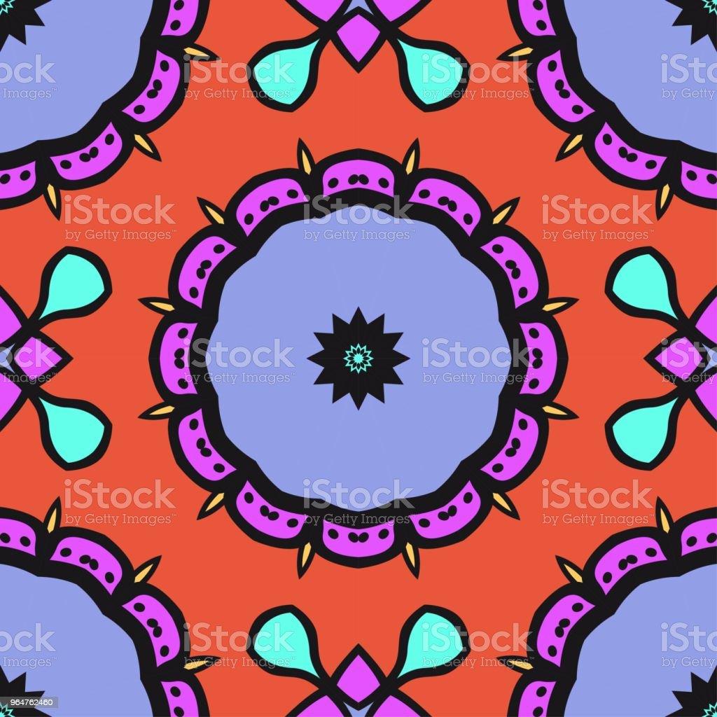 Seamless Floral pattern. Art-deco Geometric background. Modern graphic design. Vector illustration royalty-free seamless floral pattern artdeco geometric background modern graphic design vector illustration stock vector art & more images of abstract