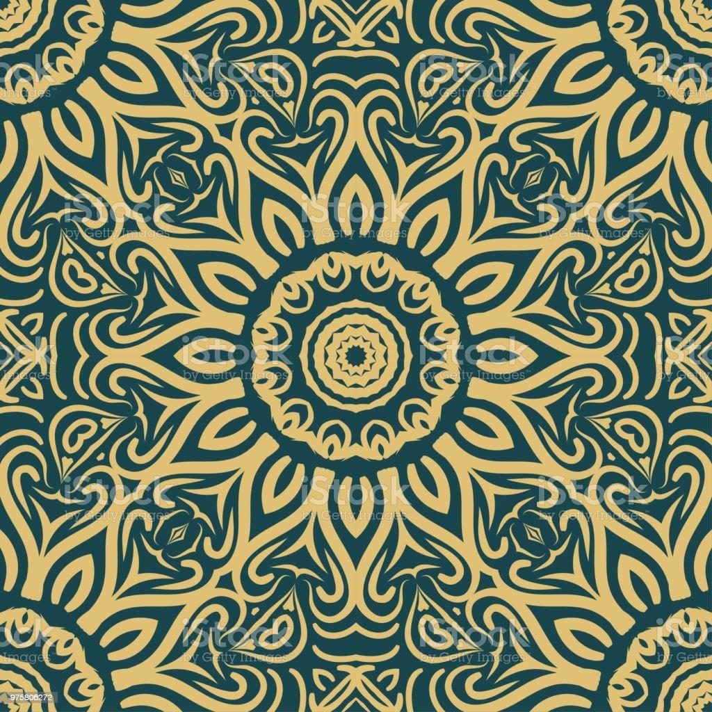 Nahtlose Blumenmuster. Art-Deco-geometrischen Hintergrund. Moderne Grafik-Design. Vektor-Illustration. Für print, Mode - Lizenzfrei Abstrakt Vektorgrafik