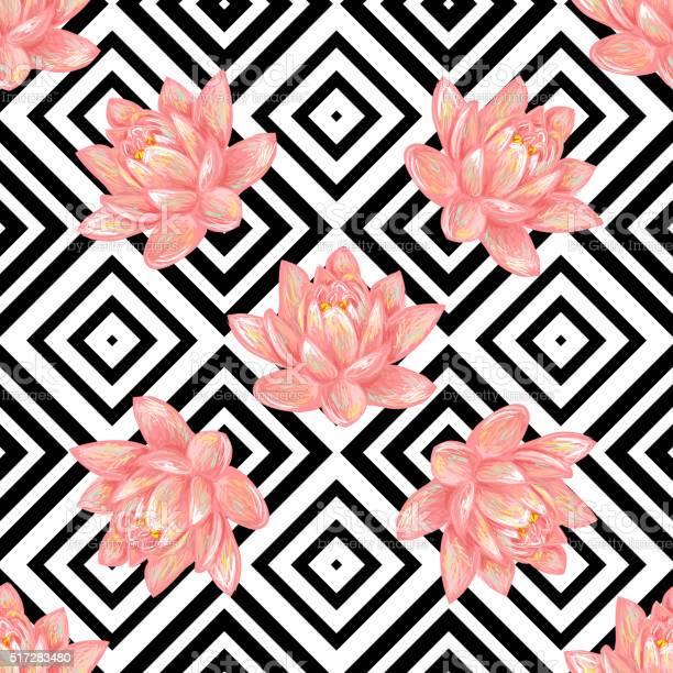 Seamless floral pattern background with tropical pink lotus vector id517283480?b=1&k=6&m=517283480&s=612x612&h=9qxjegqueagyrr76gwkwal8guluuql95iwa yer9brc=