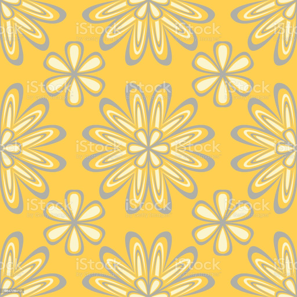 Seamless floral pattern. Bright yellow background with flower designs royalty-free seamless floral pattern bright yellow background with flower designs stock vector art & more images of abstract
