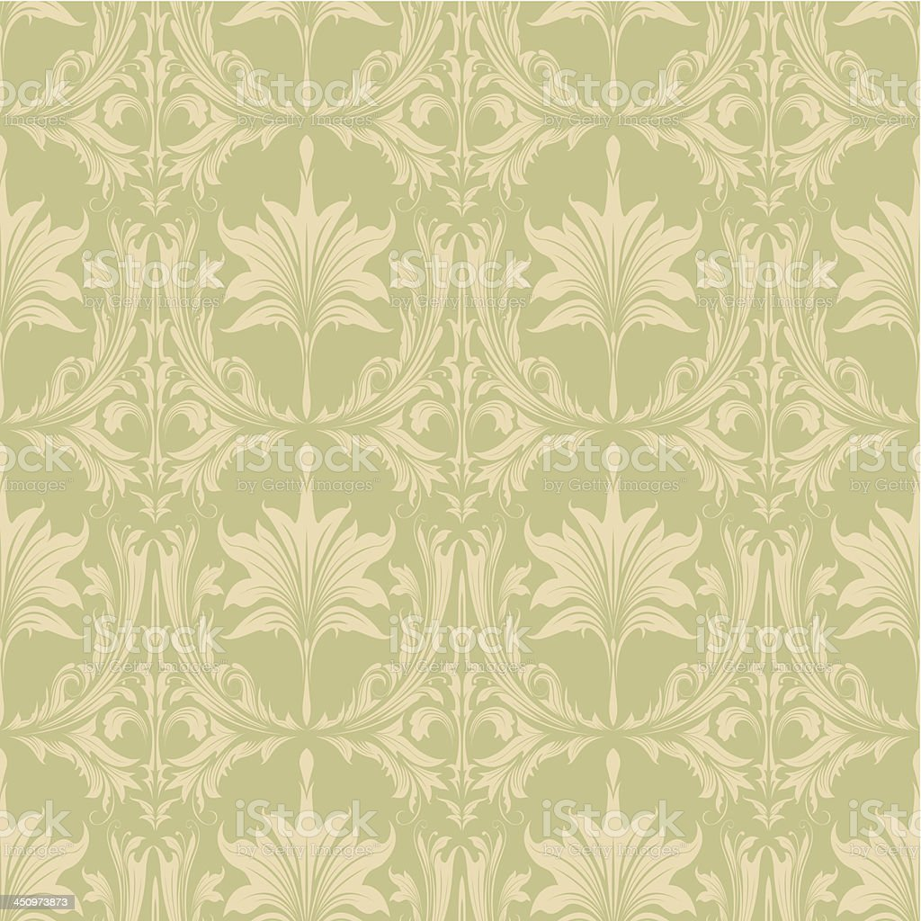 Seamless floral pattern design royalty-free stock vector art