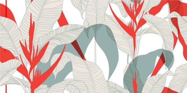 빈티지 동양 스타일에서 완벽 한 꽃 패턴입니다. - 꽃 식물 stock illustrations