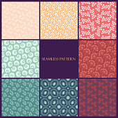 simple floral pattern on pastel background