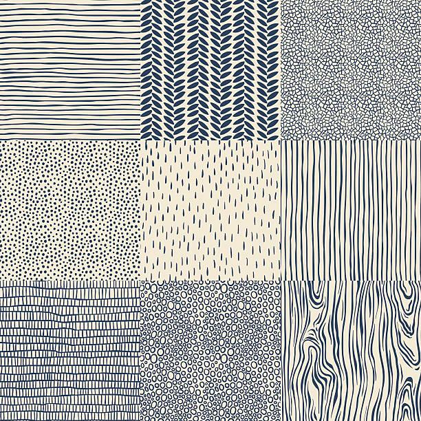 원활한 플로럴 패턴 설정 - 반복 stock illustrations