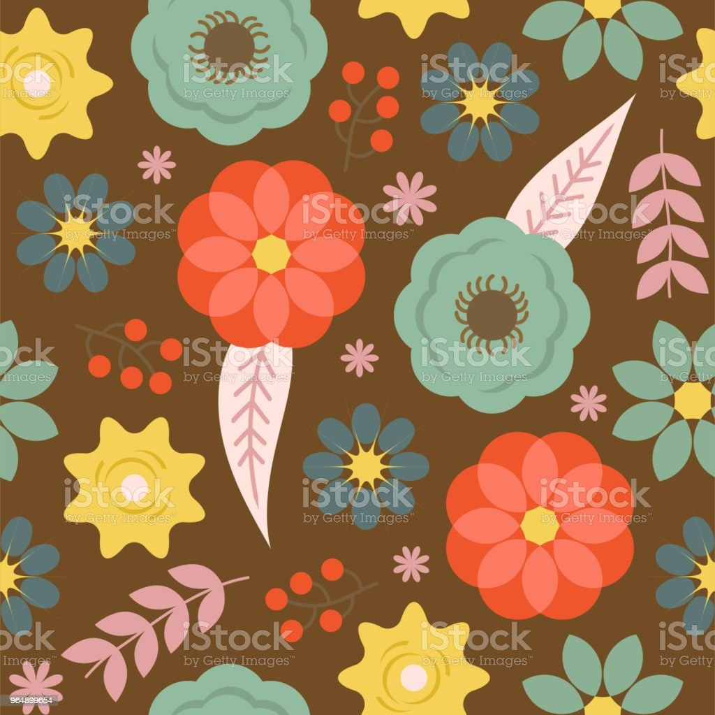 Seamless floral pattern , suitable for use as background or wrapping paper royalty-free seamless floral pattern suitable for use as background or wrapping paper stock illustration - download image now