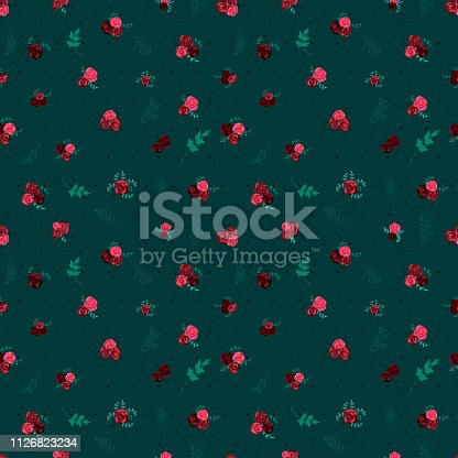 Retro seamless floral pattern. EPS10 vector illustration, global colors, easy to modify.