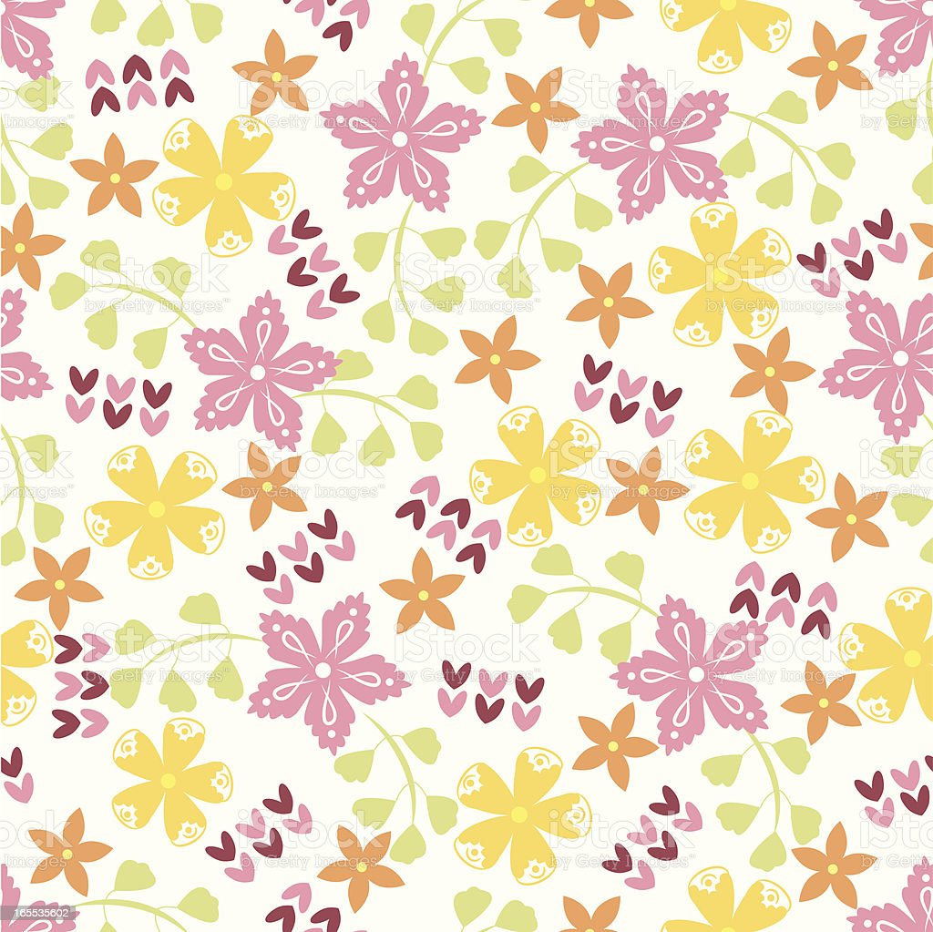 Seamless floral pattern . royalty-free seamless floral pattern stock vector art & more images of abstract