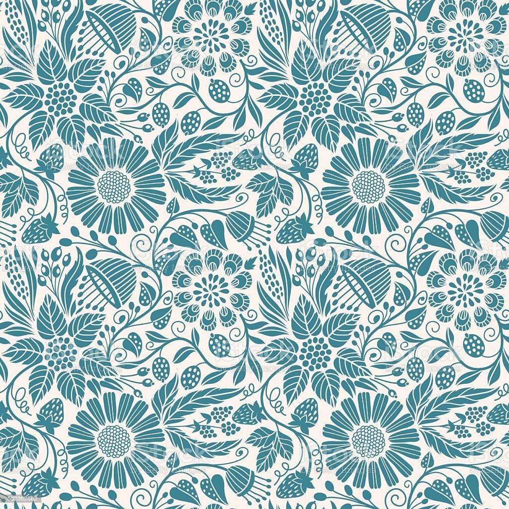 Seamless floral pattern vektorkonstillustration