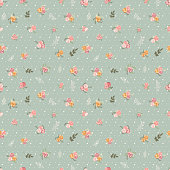 Retro seamles floral pattern. EPS10 vector illustration, global colors, easy to modify.