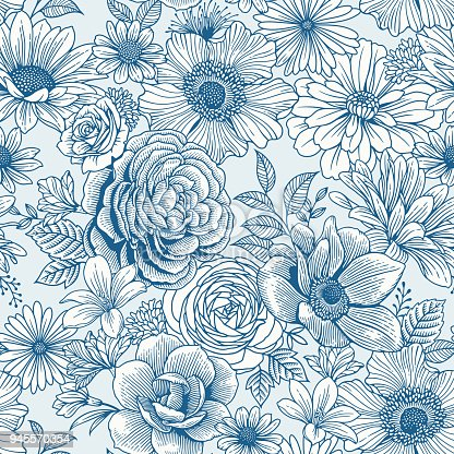 istock Seamless Floral Pattern 945570354