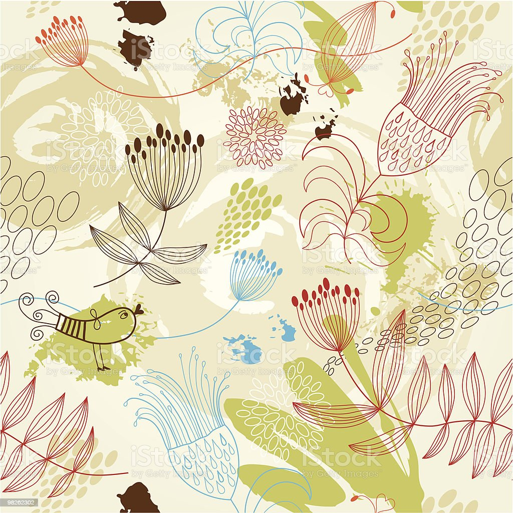 seamless floral  pattern royalty-free seamless floral pattern stock vector art & more images of art