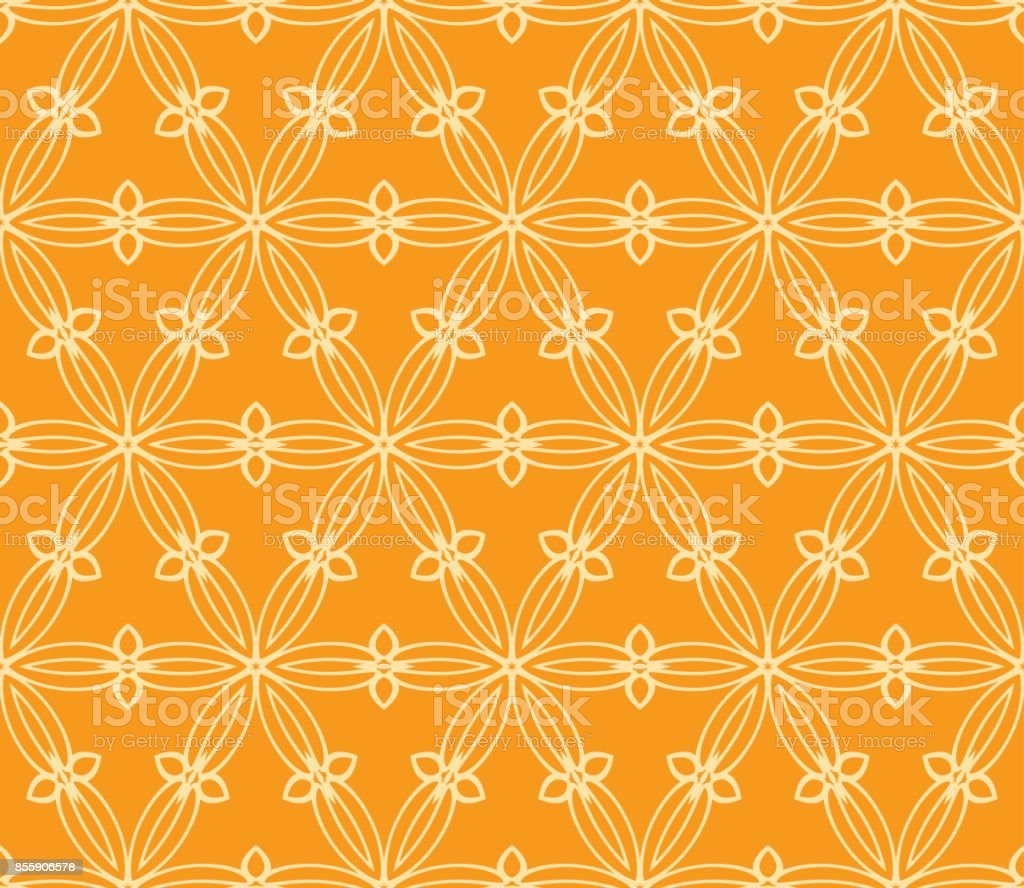 seamless floral pattern vector illustration orange color for design vector id855906578