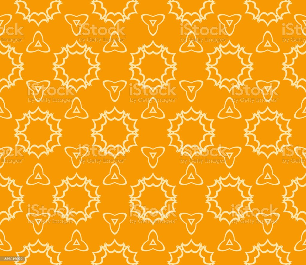 Seamless Floral Pattern Vector Illustration Orange Color For Design Themed Circuit Board Drawing Clipart Wallpaper Background