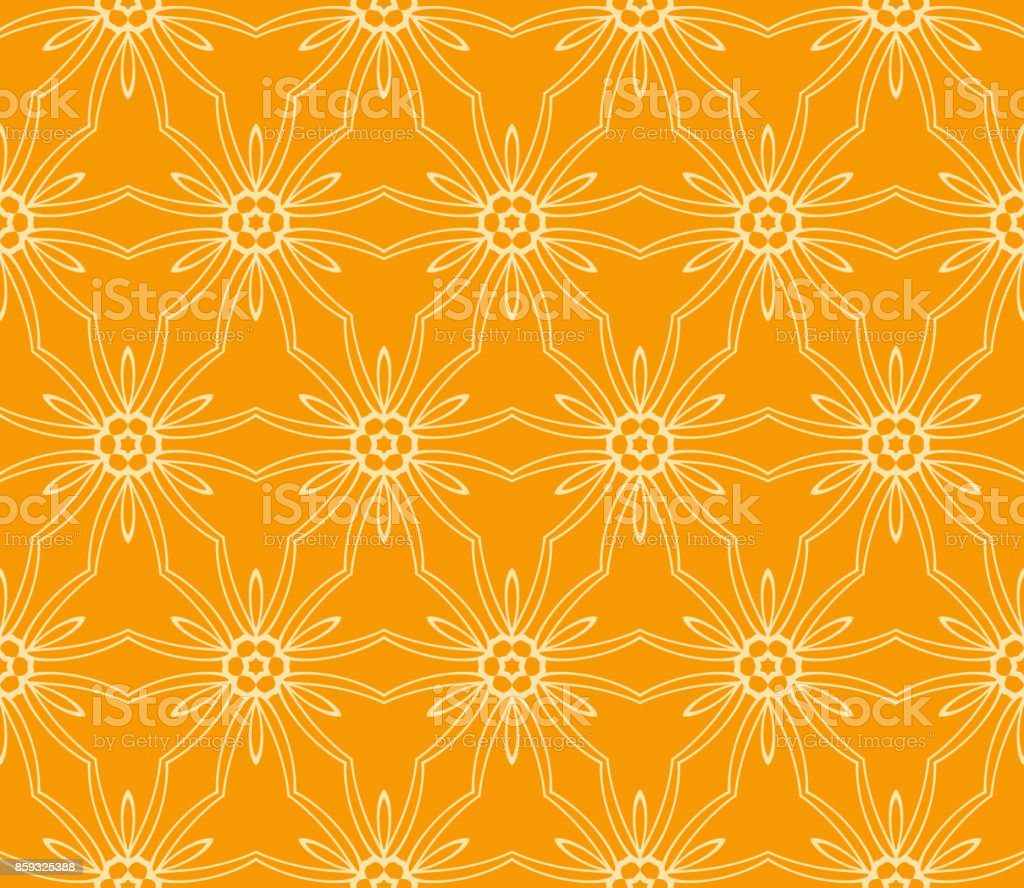 seamless floral pattern vector illustration orange color for design vector id859325388