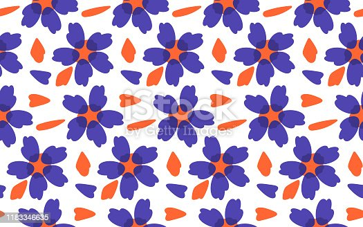 Seamless fashion print in vector