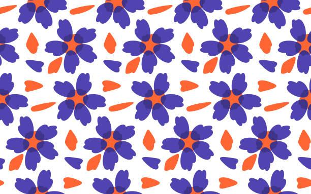 シームレスな花柄ベクトル - ボタニカル点のイラスト素材/クリップアート素材/マンガ素材/アイコン素材