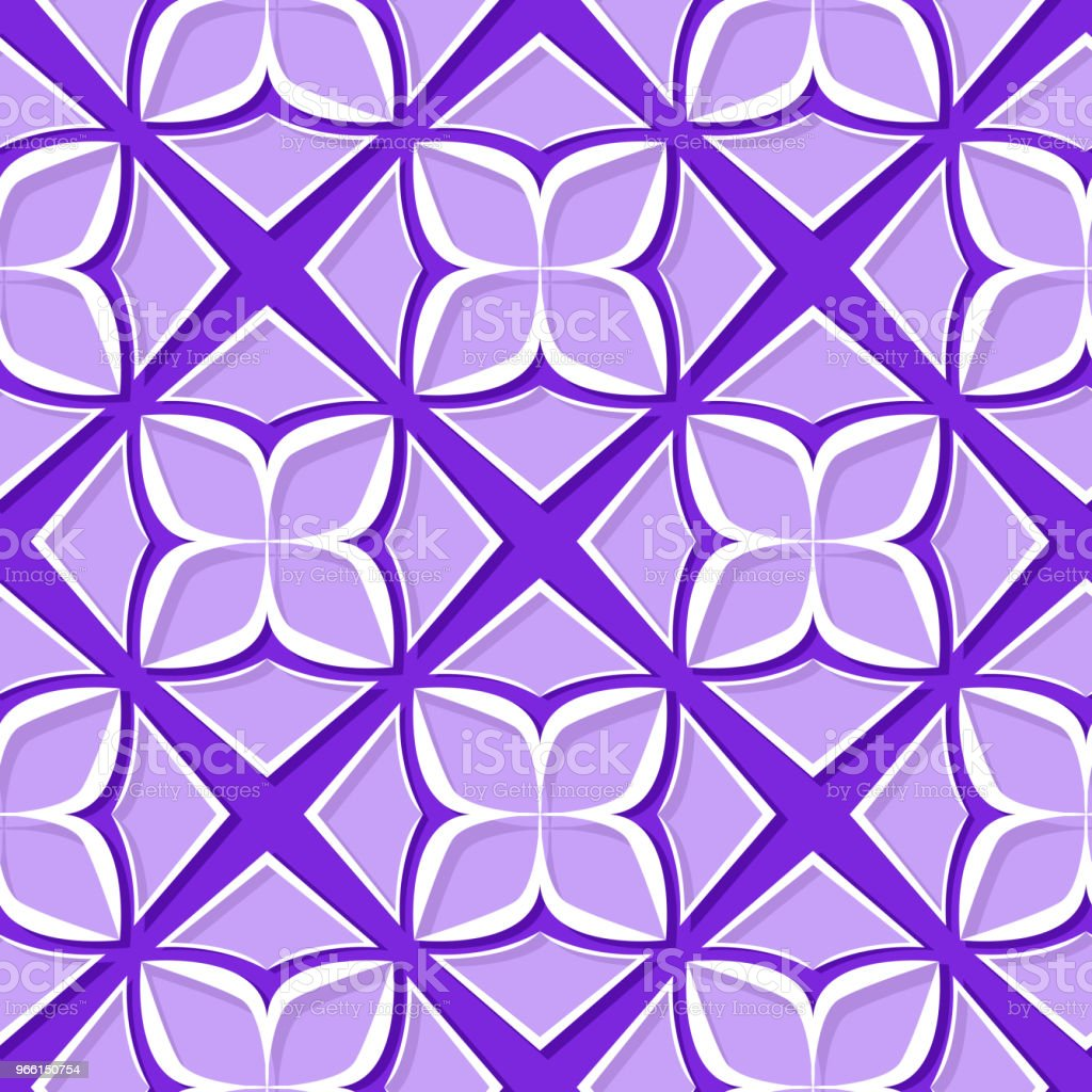 Seamless floral pattern. Violet and lilac 3d designs - Royalty-free Abstract stock vector