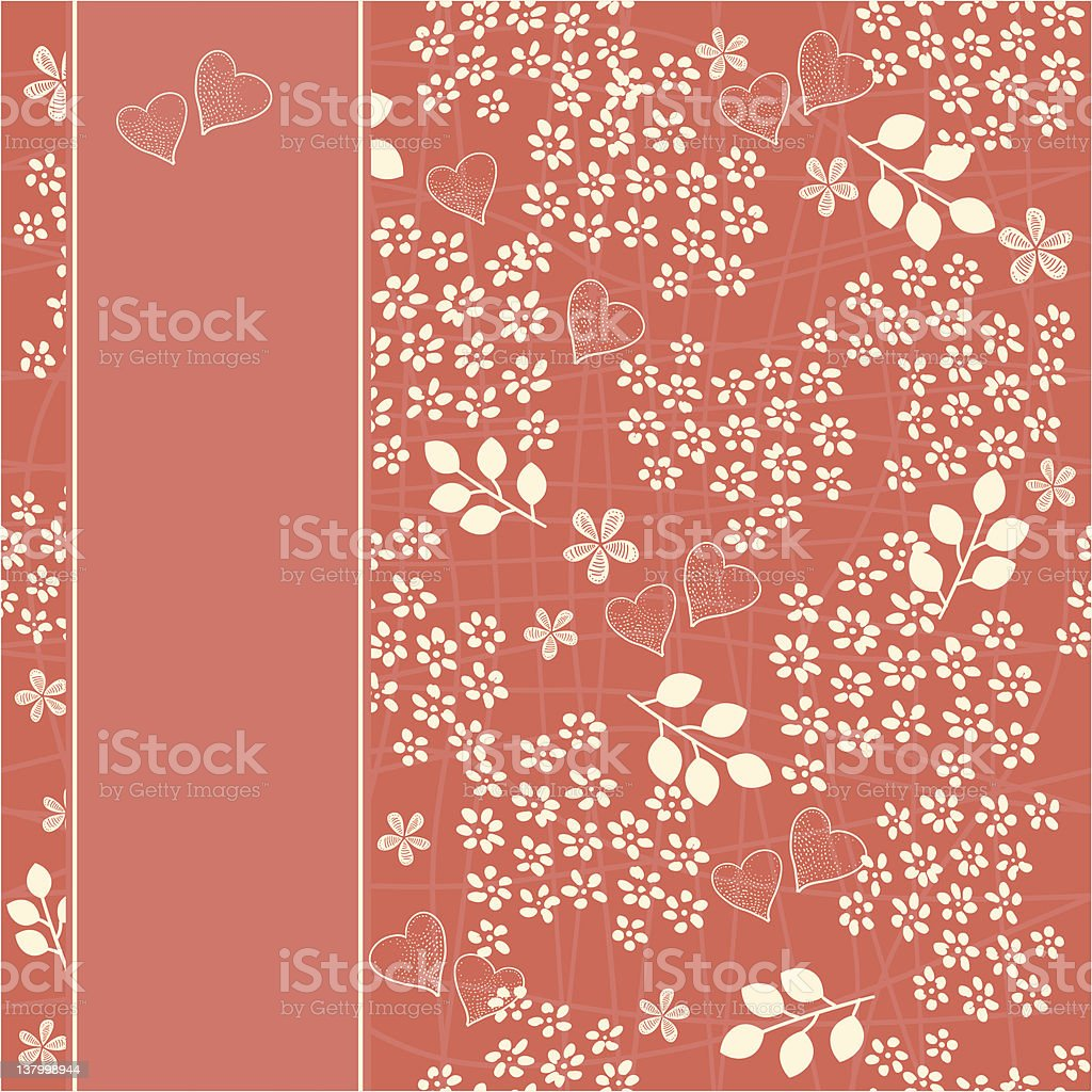 seamless floral pattern with banner royalty-free stock vector art