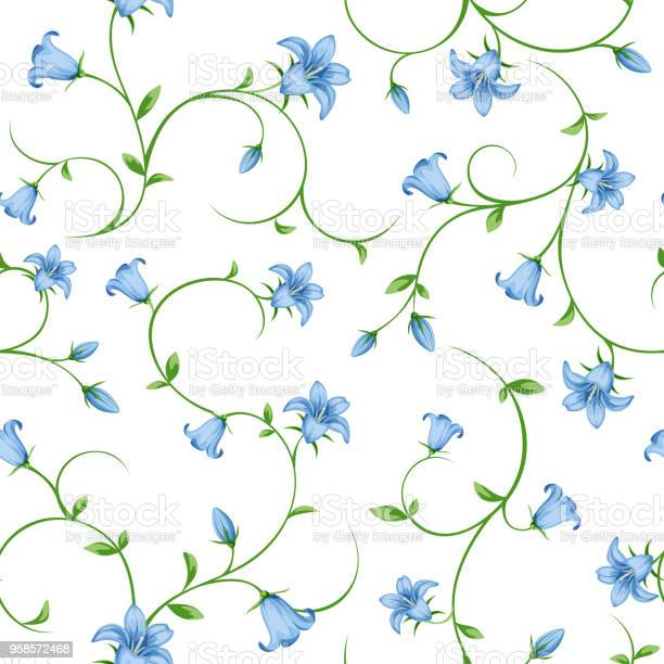 Seamless floral pattern with bluebell flowers vector illustration vector id958572468?b=1&k=6&m=958572468&s=612x612&h=ey awqr5ce0cffz0ot1rt941uxtrnysrprde2nekcei=