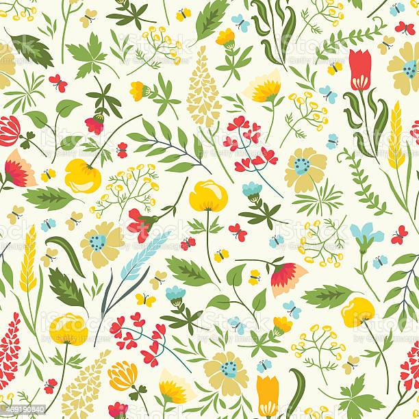 Seamless floral pattern with flowers and herbs vector id469190840?b=1&k=6&m=469190840&s=612x612&h=ss2v7z712hoxailgmlz5ffupbtjrbnxttvxyozcvaz8=