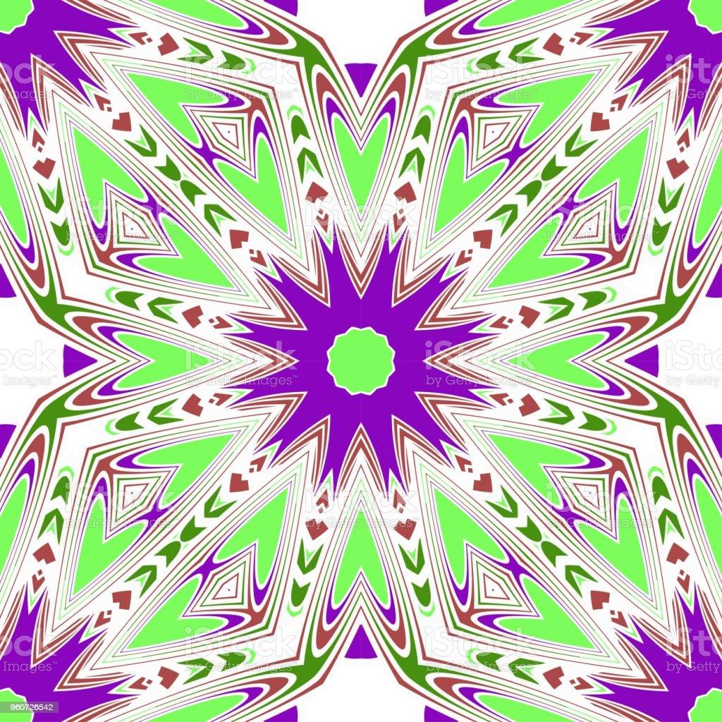 Nahtlose Floralen Muster Mit Modernen Stil Ornament Auf Farbigem