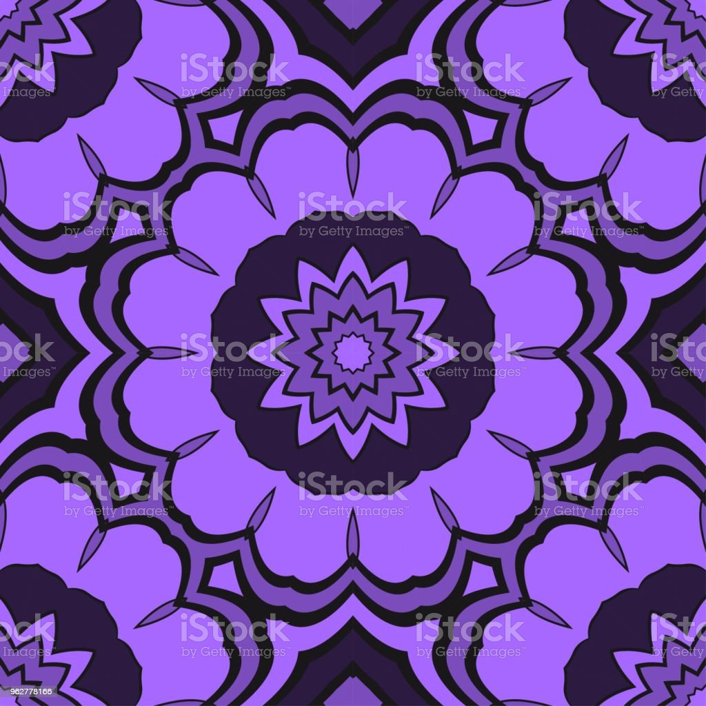Seamless floral pattern with modern style ornament on color background. For wallpaper, cover book, fabric, scrapbooks. - arte vettoriale royalty-free di Adulto