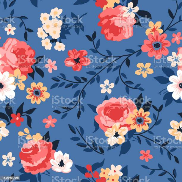 Seamless floral pattern with roses peonies and branches vector id908256356?b=1&k=6&m=908256356&s=612x612&h=segjaj6xaisjpckiwls0zwdrrcdmcthds6egbksfz9w=