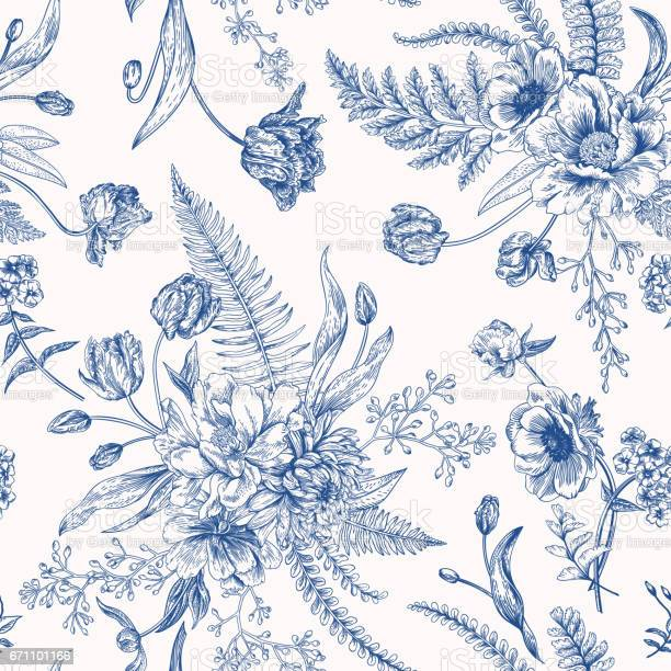 Seamless floral pattern with spring flowers vector id671101166?b=1&k=6&m=671101166&s=612x612&h=hqatzq87ek7vz7c tb3icx0yoeb7hhbsidv10d0elsk=