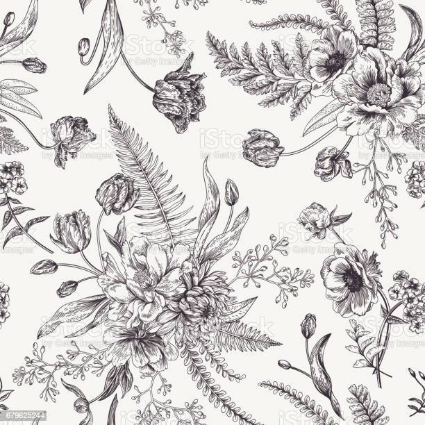 Seamless floral pattern with spring flowers vector id679625244?b=1&k=6&m=679625244&s=612x612&h=pggsmxkhpyuhw189s9jywufqsr7t o3fiwjodlb03b4=