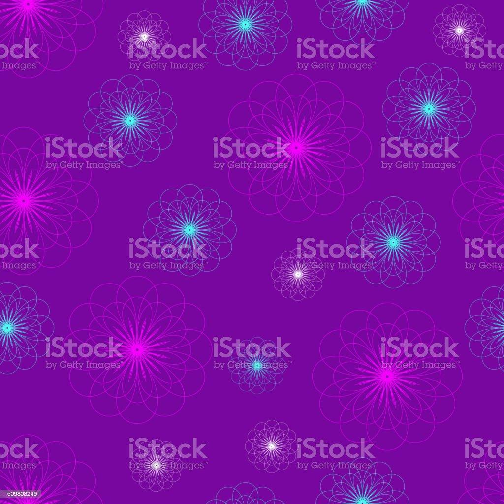 Seamless floral purple flower vector wallpaper pattern stock vector seamless floral purple flower vector wallpaper pattern royalty free seamless floral purple flower vector thecheapjerseys Images