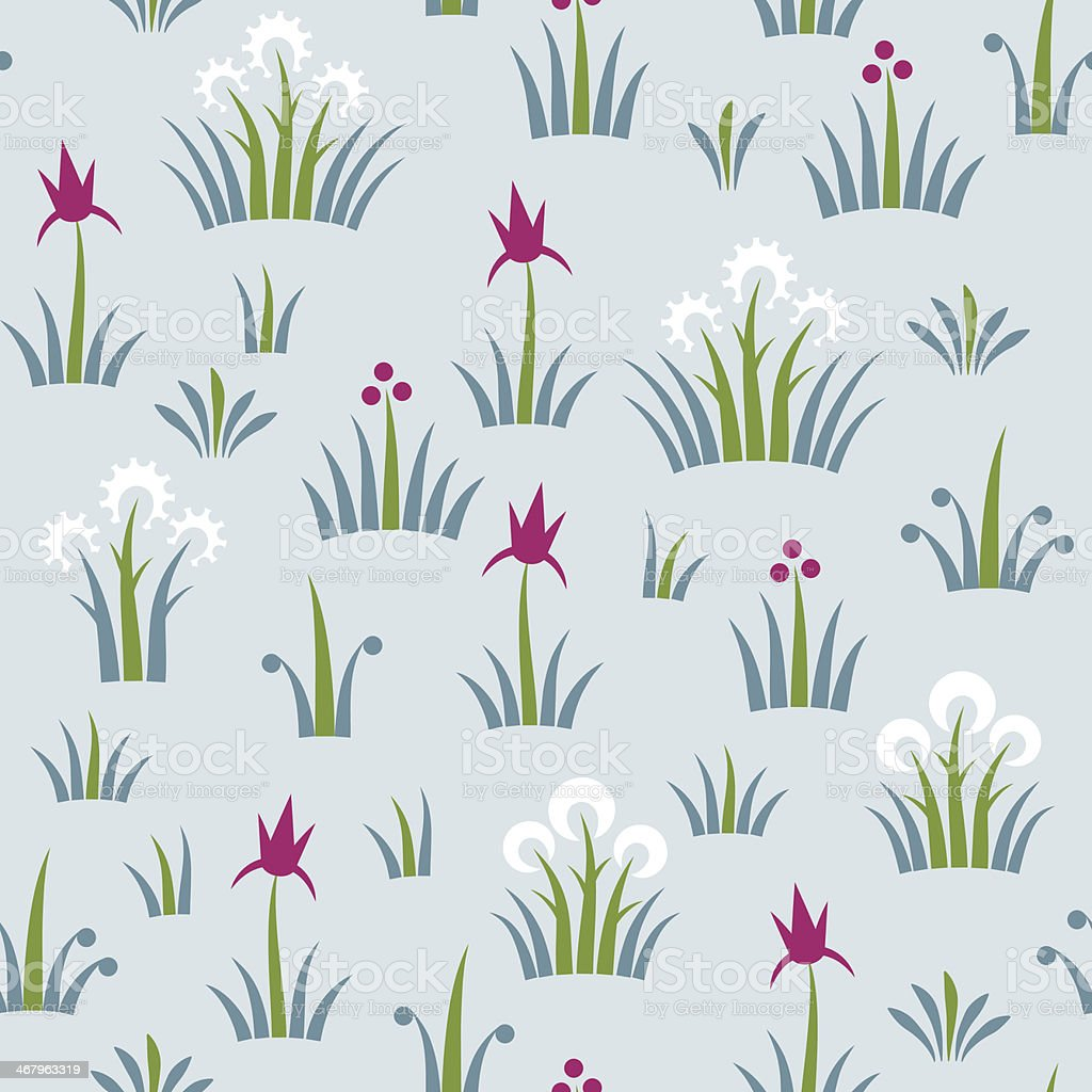 Seamless floral retro pattern of classic style royalty-free stock vector art