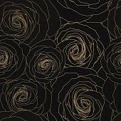 Seamless floral pattern with delicate roses. Vector illustration.
