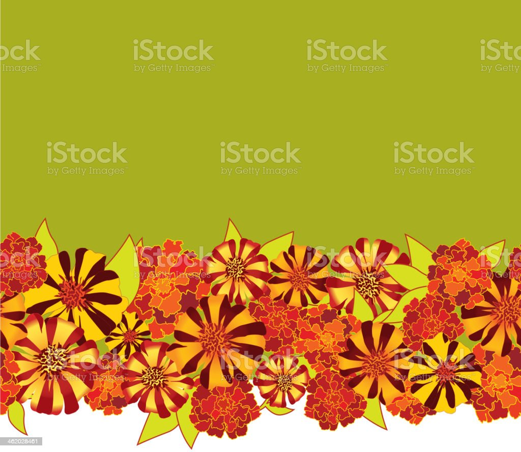 Seamless Floral Wallpaper Border Stock Illustration Download