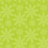 Seamless flowers vector background - flowers as well as the curved lines are seamless, perfect for tiling