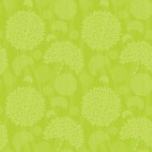 Seamless flowers vector background - flowers as well as the curved lines are seamless, perfect for tiling - Easy color edit, global colors used