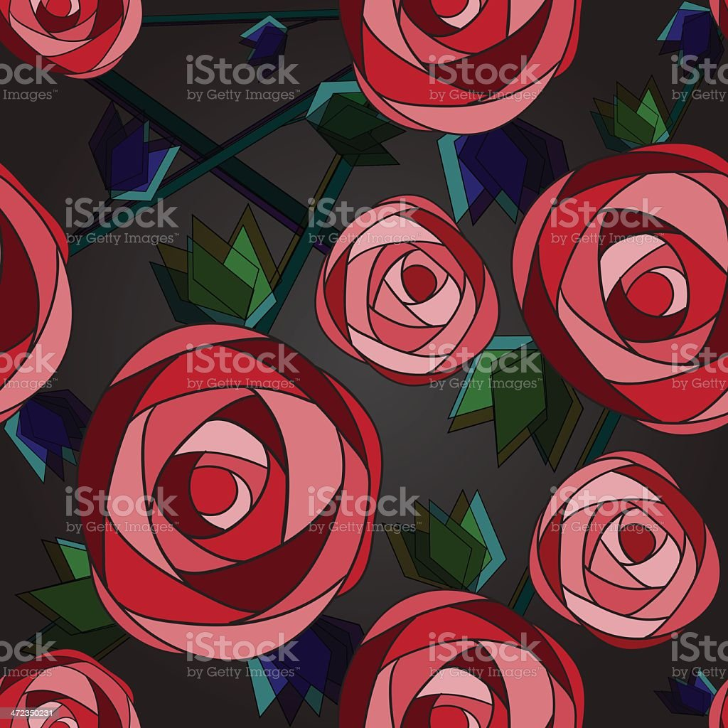 Seamless flower background with roses. royalty-free stock vector art
