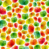 Vector illustration of a seamless flower pattern.