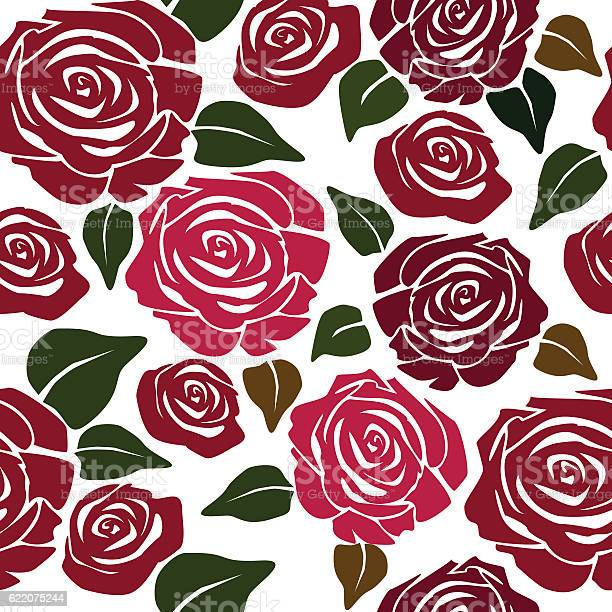 Seamless flower patternwith roses vector id622075244?b=1&k=6&m=622075244&s=612x612&h=9jmoeokhqhcmul smvp2whfweug35dg7le8jkra55rm=