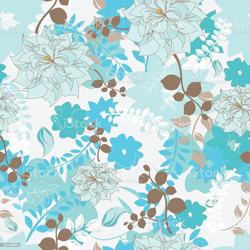 senza giunte modello fiori senza giunte modello fiori - immagini vettoriali stock e altre immagini di arredamento royalty-free