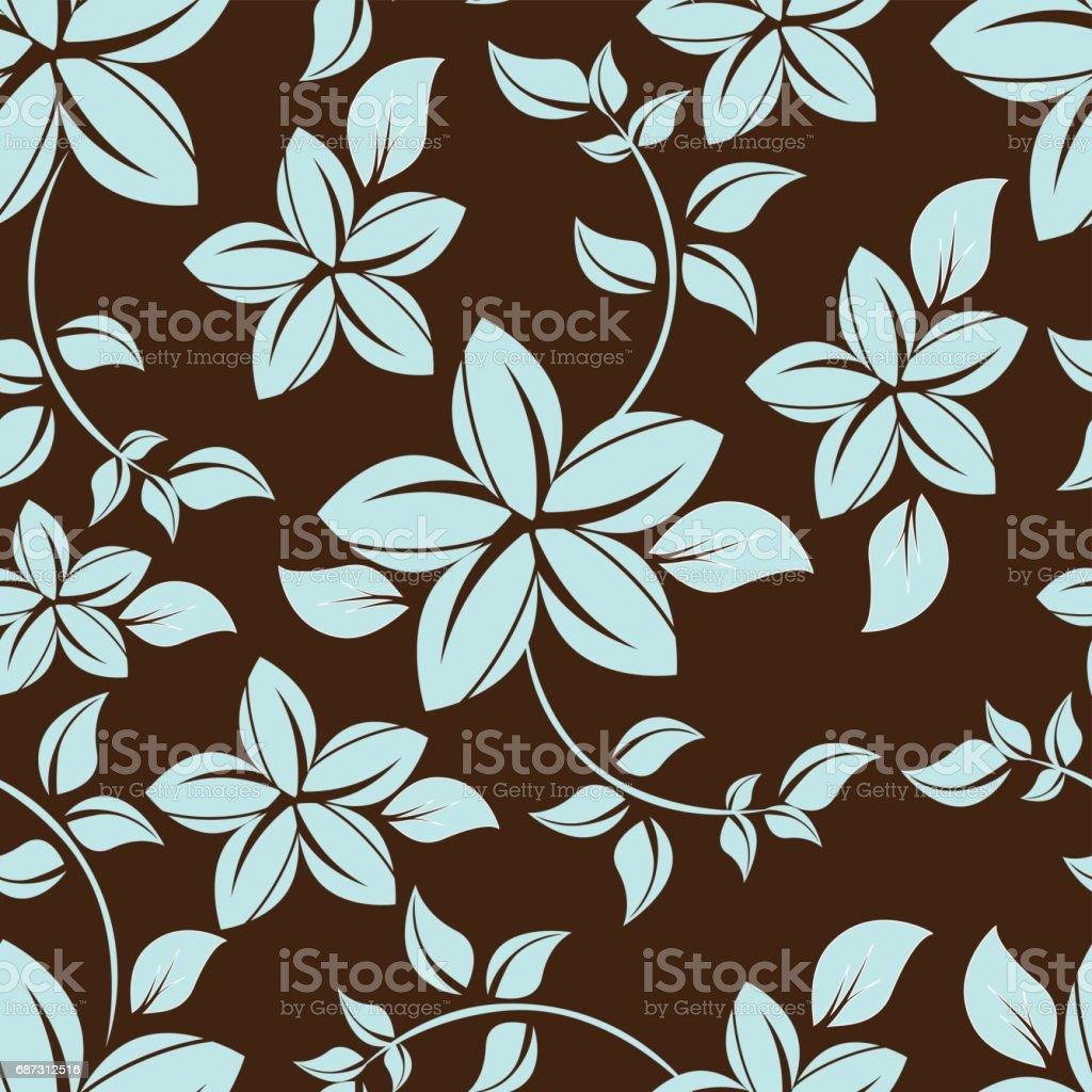 seamless flowers pattern - Illustration vectorielle