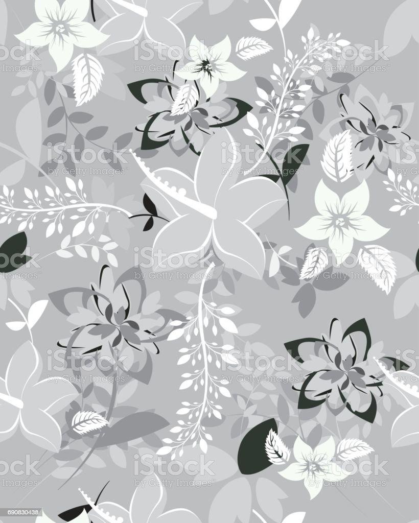 Motif sans couture fleurs - Illustration vectorielle
