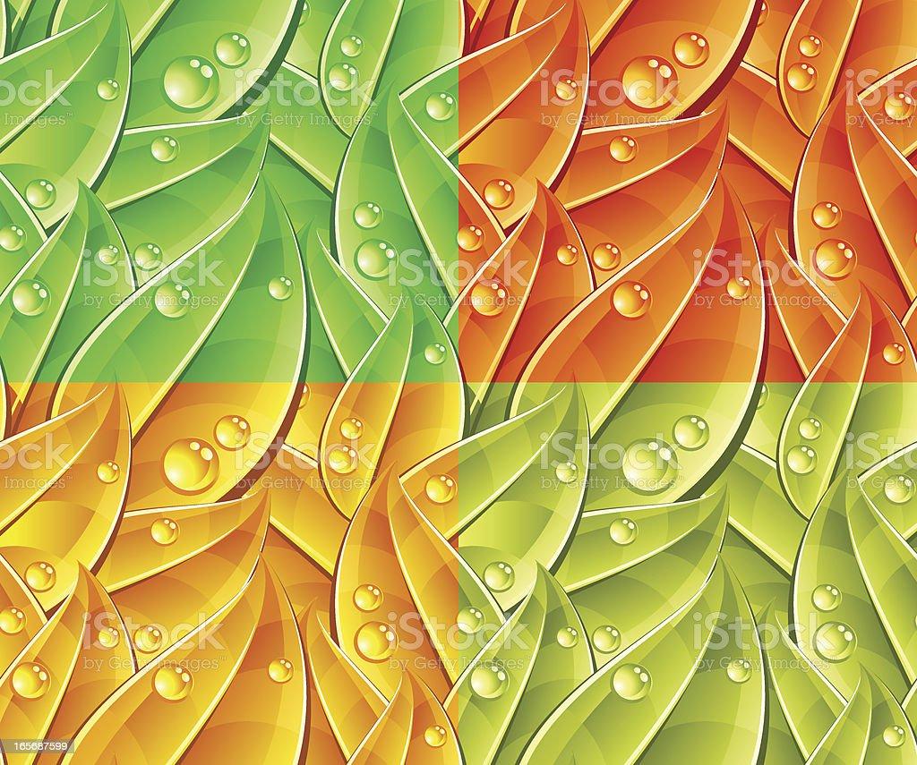 Seamless foliage pattern royalty-free stock vector art