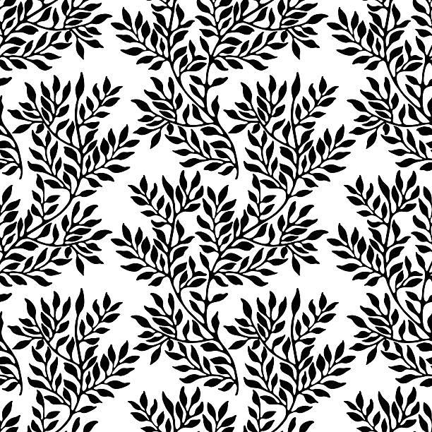seamless foliate ornament. - 葉狀花紋 幅插畫檔、美工圖案、卡通及圖標