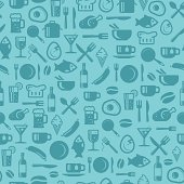 Seamless foods pattern. Best for wallpapers, decors, Branding your cafe or  restaurant.