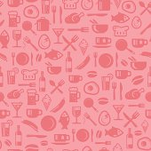 Seamless foods pattern. Best for wallpapers, decors, Branding the restaurant.