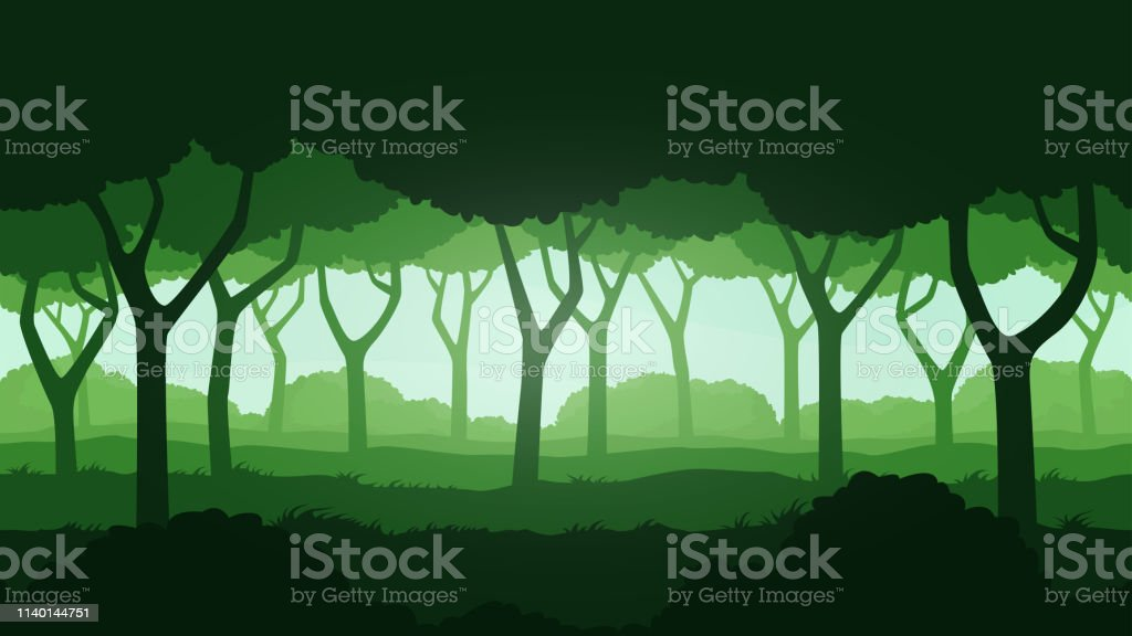 Seamless forest landscape. Beautiful high quality unending...