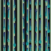 seamless fork and spoon pattern background