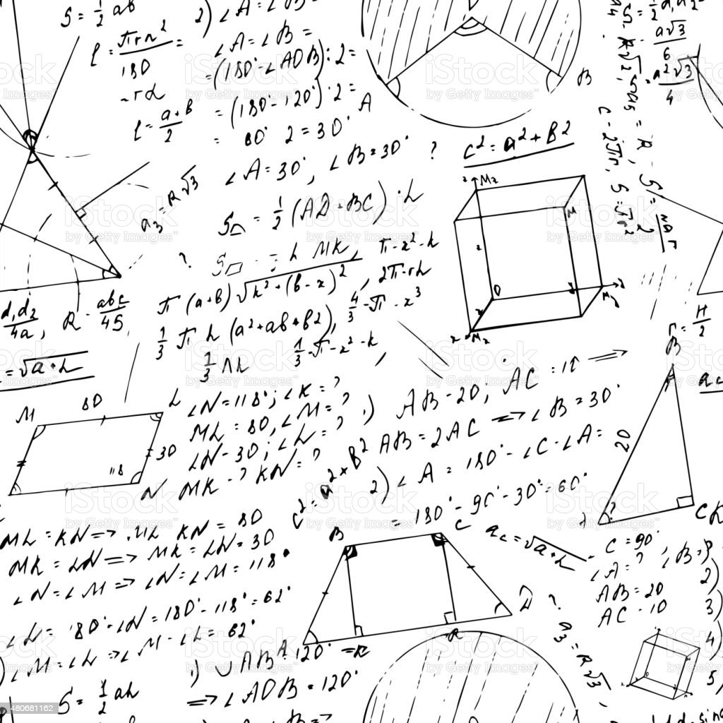 Patrón Sin Costuras De Fórmula Illustracion Libre de Derechos ...