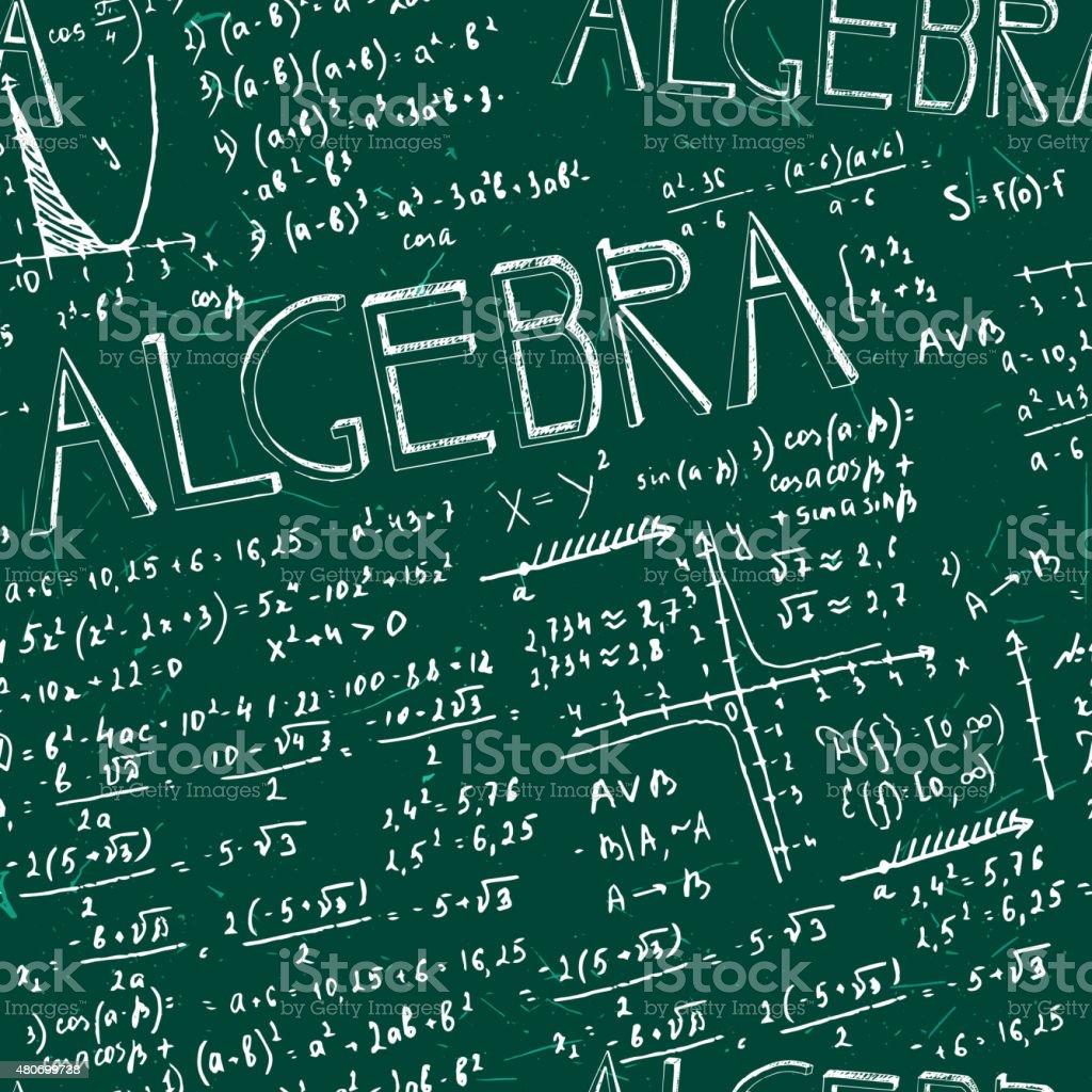 Seamless formula pattern vector art illustration