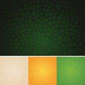 Seamless four-leaf clover background.
